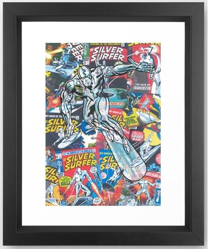 comic-silver-surfer-framed-prints