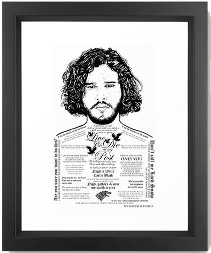 jon-snow-tattooed-stark-naked-framed-prints